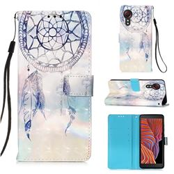 Fantasy Campanula 3D Painted Leather Wallet Case for Samsung Galaxy Xcover 5