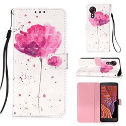 Watercolor 3D Painted Leather Wallet Case for Samsung Galaxy Xcover 5