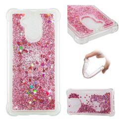 Dynamic Liquid Glitter Sand Quicksand Star TPU Case for Huawei Enjoy 6s Honor 6C Nova Smart - Diamond Rose