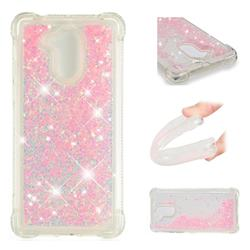 Dynamic Liquid Glitter Sand Quicksand TPU Case for Huawei Enjoy 6s Honor 6C Nova Smart - Silver Powder Star