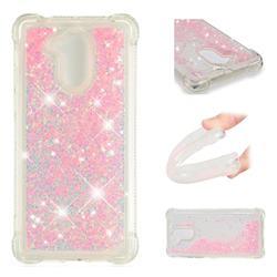 Dynamic Liquid Glitter Sand Quicksand TPU Case for Huawei Enjoy 6s Honor 6C Nova Smart - Silver Powder Star
