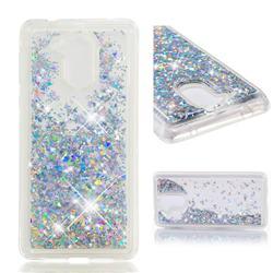 Dynamic Liquid Glitter Quicksand Sequins TPU Phone Case for Huawei Enjoy 6s Honor 6C Nova Smart - Silver