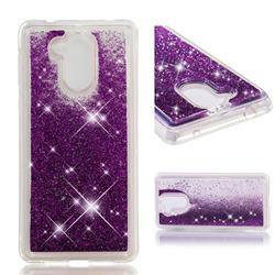 Dynamic Liquid Glitter Quicksand Sequins TPU Phone Case for Huawei Enjoy 6s Honor 6C Nova Smart - Purple
