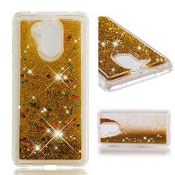 Dynamic Liquid Glitter Quicksand Sequins TPU Phone Case for Huawei Enjoy 6s Honor 6C Nova Smart - Golden