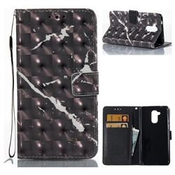 Black Marble 3D Painted Leather Wallet Case for Huawei Enjoy 6s Honor 6C Nova Smart