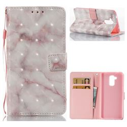 Beige Marble 3D Painted Leather Wallet Case for Huawei Enjoy 6s Honor 6C Nova Smart