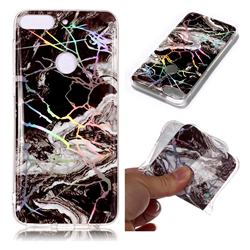 White Black Marble Pattern Bright Color Laser Soft TPU Case for HTC Desire 12+ Plus (6.0 inch)