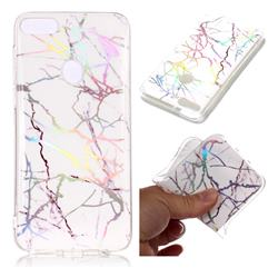 Color White Marble Pattern Bright Color Laser Soft TPU Case for HTC Desire 12+ Plus (6.0 inch)