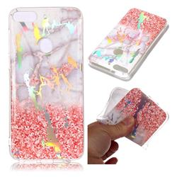 Powder Sandstone Marble Pattern Bright Color Laser Soft TPU Case for HTC Desire 12+ Plus (6.0 inch)