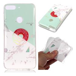Donuts Marble Pattern Bright Color Laser Soft TPU Case for HTC Desire 12+ Plus (6.0 inch)