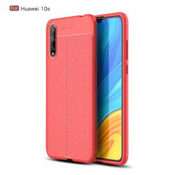Luxury Auto Focus Litchi Texture Silicone TPU Back Cover for Huawei Enjoy 10s - Red