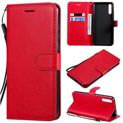 Retro Greek Classic Smooth PU Leather Wallet Phone Case for Huawei Enjoy 10s - Red