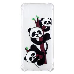 Three Pandas Anti-fall Clear Varnish Soft TPU Back Cover for Huawei Enjoy 9