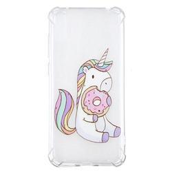 Donut Unicorn Anti-fall Clear Varnish Soft TPU Back Cover for Huawei Enjoy 9