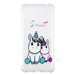 Sweet Unicorn Anti-fall Clear Varnish Soft TPU Back Cover for Huawei Enjoy 9