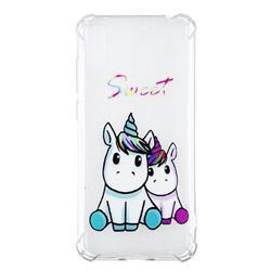 Sweet Unicorn Anti-fall Clear Varnish Soft TPU Back Cover for Huawei Enjoy 9