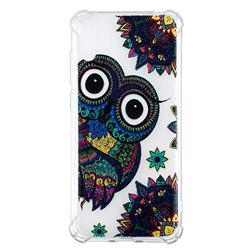 Owl Totem Anti-fall Clear Varnish Soft TPU Back Cover for Huawei Enjoy 9