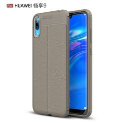 Luxury Auto Focus Litchi Texture Silicone TPU Back Cover for Huawei Enjoy 9 - Gray