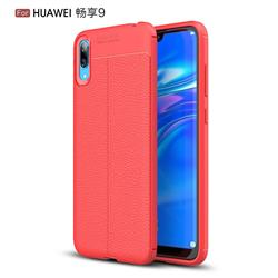 Luxury Auto Focus Litchi Texture Silicone TPU Back Cover for Huawei Enjoy 9 - Red