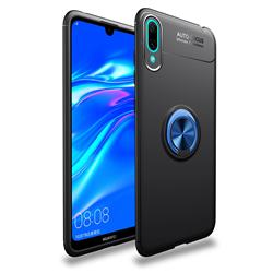 Auto Focus Invisible Ring Holder Soft Phone Case for Huawei Enjoy 9 - Black Blue