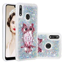 Seashell Owl Dynamic Liquid Glitter Quicksand Soft TPU Case for Huawei Enjoy 9