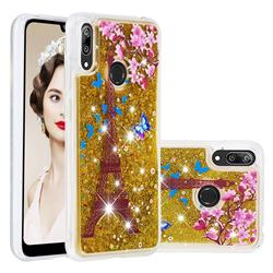 Golden Tower Dynamic Liquid Glitter Quicksand Soft TPU Case for Huawei Enjoy 9