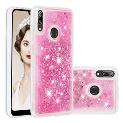 Dynamic Liquid Glitter Quicksand Sequins TPU Phone Case for Huawei Enjoy 9 - Rose