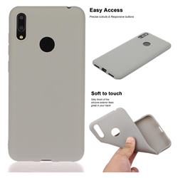 Soft Matte Silicone Phone Cover for Huawei Enjoy 9 - Gray