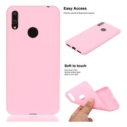 Soft Matte Silicone Phone Cover for Huawei Enjoy 9 - Rose Red