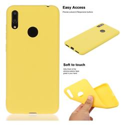 Soft Matte Silicone Phone Cover for Huawei Enjoy 9 - Yellow