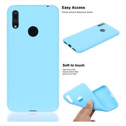 Soft Matte Silicone Phone Cover for Huawei Enjoy 9 - Sky Blue