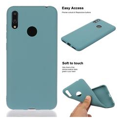 Soft Matte Silicone Phone Cover for Huawei Enjoy 9 - Lake Blue