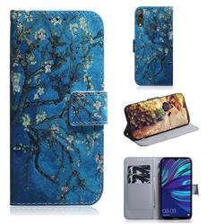 Apricot Tree PU Leather Wallet Case for Huawei Enjoy 9