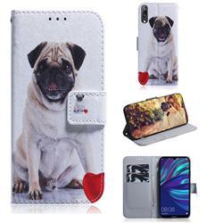 Pug Dog PU Leather Wallet Case for Huawei Enjoy 9