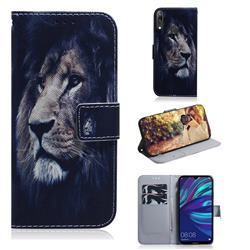 Lion Face PU Leather Wallet Case for Huawei Enjoy 9