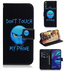 Not Touch My Phone PU Leather Wallet Case for Huawei Enjoy 9