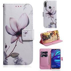 Magnolia Flower PU Leather Wallet Case for Huawei Enjoy 9
