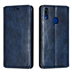 Retro Slim Magnetic Crazy Horse PU Leather Wallet Case for Huawei Enjoy 9 - Blue