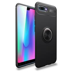 Auto Focus Invisible Ring Holder Soft Phone Case for Huawei Honor 10 - Black