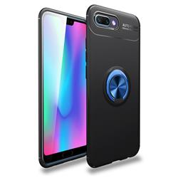 Auto Focus Invisible Ring Holder Soft Phone Case for Huawei Honor 10 - Black Blue