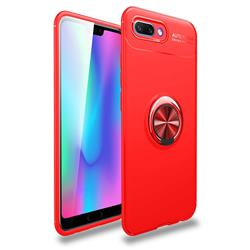 Auto Focus Invisible Ring Holder Soft Phone Case for Huawei Honor 10 - Red