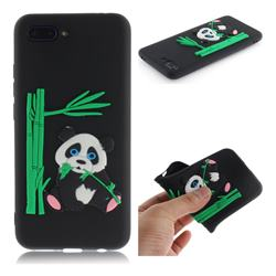 Panda Eating Bamboo Soft 3D Silicone Case for Huawei Honor 10 - Black