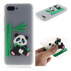 Panda Eating Bamboo Soft 3D Silicone Case for Huawei Honor 10 - Translucent