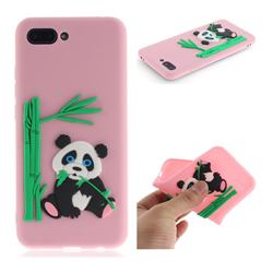 Panda Eating Bamboo Soft 3D Silicone Case for Huawei Honor 10 - Pink