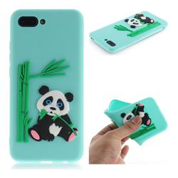 Panda Eating Bamboo Soft 3D Silicone Case for Huawei Honor 10 - Green