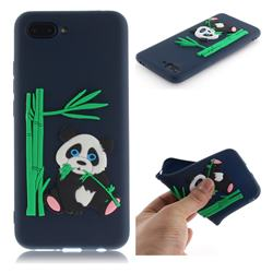 Panda Eating Bamboo Soft 3D Silicone Case for Huawei Honor 10 - Dark Blue