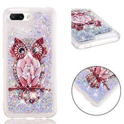 Seashell Owl Dynamic Liquid Glitter Quicksand Soft TPU Case for Huawei Honor 10