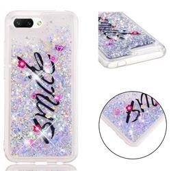 Smile Flower Dynamic Liquid Glitter Quicksand Soft TPU Case for Huawei Honor 10