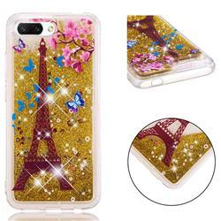Golden Tower Dynamic Liquid Glitter Quicksand Soft TPU Case for Huawei Honor 10