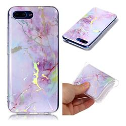 Pink Purple Marble Pattern Bright Color Laser Soft TPU Case for Huawei Honor 10
